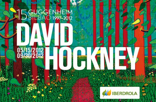Affiche David Hockney Bilbao Guggenheim
