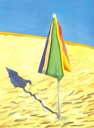 Parasol de plage 1971 david Hockney