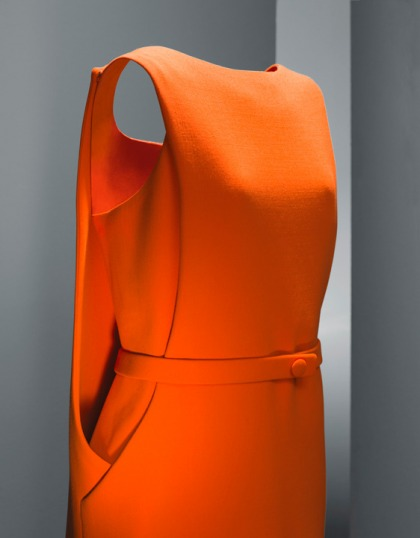 Robe orange BALENCIAGA