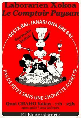 Comptoir paysan  Fête de Bayonne 2014